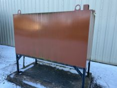 Diesel storage tank, approx. 2310mm wide x 1000mm deep x 1250mm high/ 1950 mm high with stand. (
