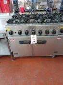 Lincat OG7002/N gas 6 burner range, s/n 20107121, purchase date 28/02/2014. A work Risk Assessment