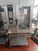 Rational SCC WEE 101G gas combination oven, s/n G11SH 16032506063, purchase date 28/02/2016. A