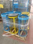 36 - Metal waste bins, as lotted