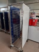 6 - Cidel Cem 'ider Roll tall tray trolleys, 2 - small tray trolleys and a quantity of trays, as