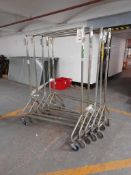 5 - Mobile clothes rails, as lotted