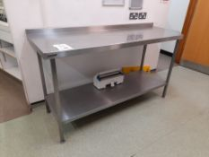 3 - Various stainless steel prep table, 1 - mobile stainless steel prep table and 1 - twin level