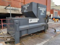 Pakawaste Powerkrush 75 static compactor, s/n 779 PVT 07 09. A work Risk Assessment must be reviewed