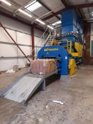 Presona LP 50 VH1 baler, Serial no. 5553, Year 2012, with inclined infeed conveyor, pre-press,