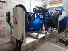 FG Wilson P800E 640 kw generator, s/n FGWPES03KU0A1408, yr 2003, 800KVA, engine type 3000 Series,