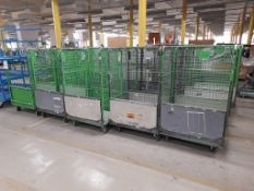 25 - Green cages, as lotted