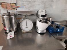 Safescan 1250GBP coin counter, Part no. 173-0568, Serial no. 113056817150167, Chefmaster bowl
