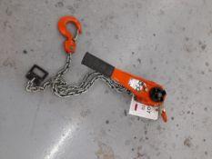 Nitchi RB40A 1.5T chain hoist, serial no. 9908051, yr 1999. NB: This item has no record of