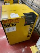 Kaeser HPC SK19 PLUSAIR packaged air compressor, Serial no.3322. NB: The purchaser must ensure