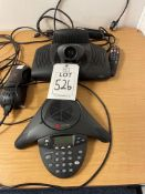 Polycom video conference system including Soundstation2 with viewstation, remote & PSU, as lotted