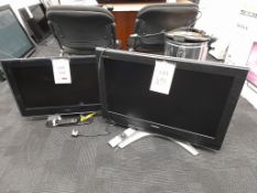 2 - Various Toshiba televisions, as lotted