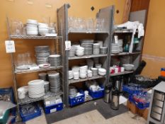 Quantity of crockery, glassware etc., as lotted