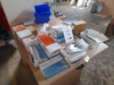 Quantity of locks, keypad locks, door closers, hinges and other ironmongery, as lotted