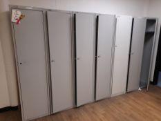 16 - Various single door lockers, as lotted