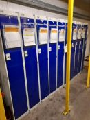 15 - Arco single-compartment lockers, as lotted (Some keys missing)