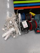 Quantity of extension leads, 240v, as lotted