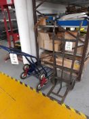 1 - Stair climber sack truck and 2 - sack trucks