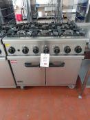 Lincat OG7002/N gas 6 burner range, s/n 20108494, purchase date 28/02/2014. A work Risk Assessment