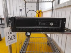 Inter M PAM-340A public address amplifier with PAM MPM4 CD MP3 tuner module