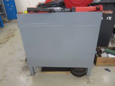 Steel workbench with 2 under storage cupboards 1800mm x 900mm - excluding contents