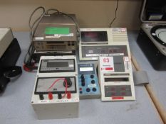 Two Keithley 197 Autoringing microvault DMM, Measurement Technology MTL084B IS indicator, SPG68 IS