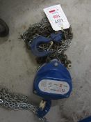 Liftingear HS-S 2 tonne chain hoist, serial no. 4720136 (2014) (Please Note: We do not hold any