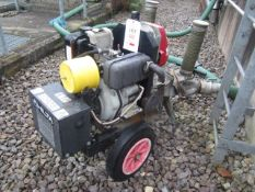 Hilta mobile twin outlet water pump, trailer mounted, serial no. 1137, model 90YE (2015)