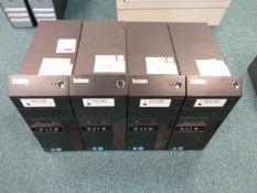 Four Lenovo M93p desktop PC towers