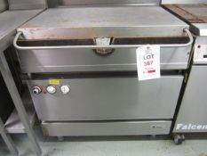 Falcon stainless steel electric bratt pan, 800mm x 900mm x H920mm - Disconnection to be undertaken