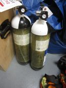 Two Drager compressed air cylinders