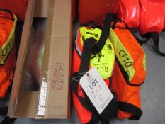 Three Drager CF10 savers emergency escape breathing apparatus