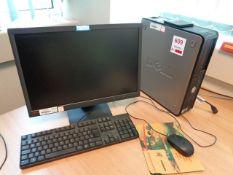 Dell Optiplex 780 desktop PC, service tag 89K705J, Lenovo LCD flat screen monitor, keyboard, mouse