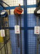 Tiger 1 tonne chain hoist, serial no. 0911077 (2012) (Please Note: We do not hold any