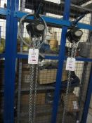 Road Crew 1 tonne chain block and hoist, model VCD, serial no. 61116217 (2016) (Please Note: We do