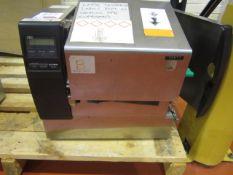TEC barcode printer, model B872-QP, serial no. 8M100209