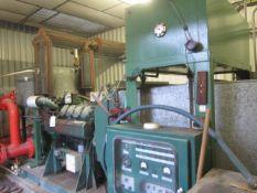 Sigmund Pulsometer Pumps Ltd fire pump engine with Fiat engine, pump type B508C, capacity 121.2