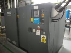 Atlas Copco ZR145 rotary screw air compressor, model AIF032764 oil free air, Allen Bradley Smart