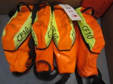 Four Drager CF10 savers emergency escape breathing apparatus