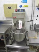Crypto Peerless commercial bench top mixer - Disconnection to be undertaken by the purchaser