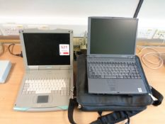 Siemens Simatic Field PG laptop, Toshiba Portege 7200 series laptop and carry case
