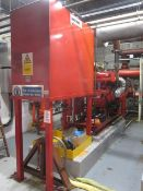 Detroit diesel fire pump engine, model DDFP06FH-L12230F, serial no. BRF-15137, engine operating