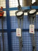 Road Crew 1 tonne chain block and hoist, model VCD, serial no. 61116188 (2016) (Please Note: We do