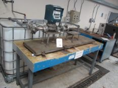Stream/Neptune 842 batch meter test rig, code L33, serial no. R5255, mounted on steel framed