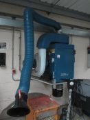 Nederman filter box extraction system, wall mounted, single flexi arm, Art no. 03280-00, serial