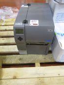 Cab XC6/1300 label printer, serial no. 016 5296B10, with various labels & ribbons