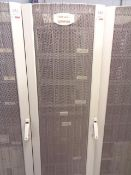 Compaq server cabinet (ref. 5/23) and contents, to include five HP Proliant ML370 servers, HP