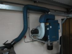Nederman filter box extraction system, wall mounted, single flexi arm, Art no. 12603763, CT5 No.