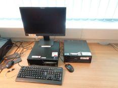 Two Lenovo desktop PCs, Lenovo LCD monitor, keyboard, mouse
