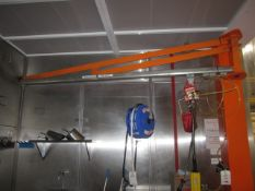 Palamatic Limited system comprising manual jib crane, type Drum lifter Suction, serial no. 16607A-